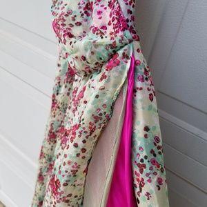 Alexia Admor Silk Chiffon Halter Dress